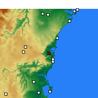Nearby Forecast Locations - Wollongong - Map