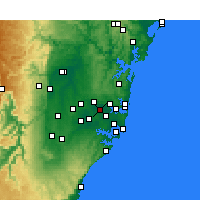 Nearby Forecast Locations - Homebush - Map