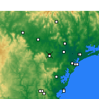Nearby Forecast Locations - Cessnock - Map