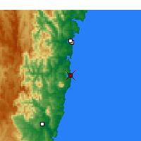 Nearby Forecast Locations - Narooma - Map