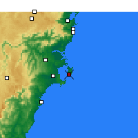 Nearby Forecast Locations - Jervis Bay - Map