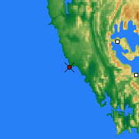 Nearby Forecast Locations - Low Rocky Point - Map