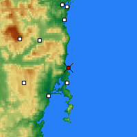 Nearby Forecast Locations - Bicheno - Map