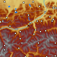 Nearby Forecast Locations - Schwaz - Map