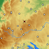 Nearby Forecast Locations - Balingen - Map