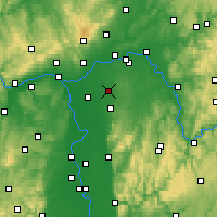 Nearby Forecast Locations - Egelsbach - Map