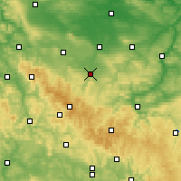 Nearby Forecast Locations - Arnstadt - Map