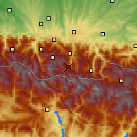 Nearby Forecast Locations - Saint-Lary-Soulan - Map