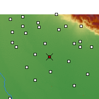 Nearby Forecast Locations - Rampur - Map