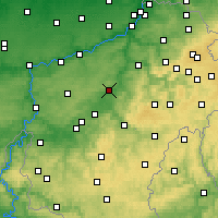 Nearby Forecast Locations - Durbuy - Map