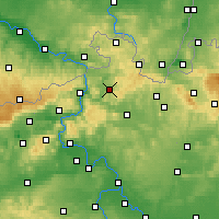 Nearby Forecast Locations - Česká Kamenice - Map