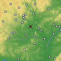 Nearby Forecast Locations - Pohořelice - Map