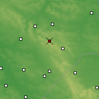 Nearby Forecast Locations - Krasnobród - Map