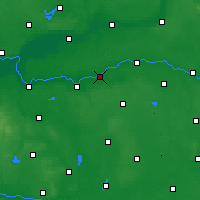 Nearby Forecast Locations - Sieraków - Map