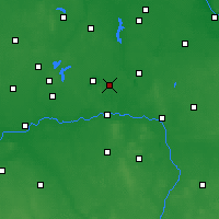 Nearby Forecast Locations - Ślesin - Map