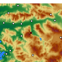 Nearby Forecast Locations - Bozdoğan - Map