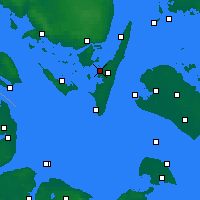 Nearby Forecast Locations - Rudkøbing - Map