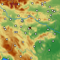 Nearby Forecast Locations - Dol pri Ljubljani - Map