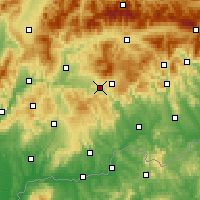 Nearby Forecast Locations - Detva - Map