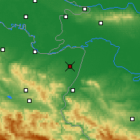 Nearby Forecast Locations - Bijeljina - Map