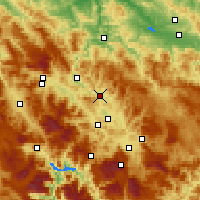Nearby Forecast Locations - Kakanj - Map
