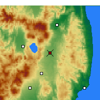 Nearby Forecast Locations - Kōriyama - Map