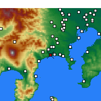 Nearby Forecast Locations - Hiratsuka - Map