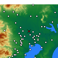 Nearby Forecast Locations - Kasukabe - Map