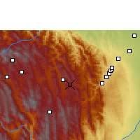 Nearby Forecast Locations - Samaipata - Map