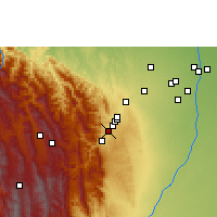 Nearby Forecast Locations - Tiquipaya - Map