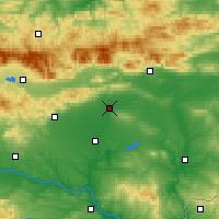 Nearby Forecast Locations - Nova Zagora - Map