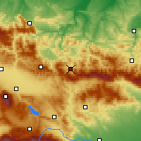 Nearby Forecast Locations - Etropole - Map