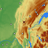 Nearby Forecast Locations - Oyonnax - Map