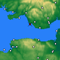 Nearby Forecast Locations - Porthcawl - Map