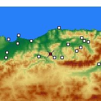 Nearby Forecast Locations - Tizi Ghenif - Map