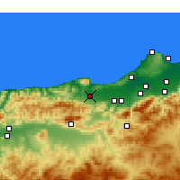 Nearby Forecast Locations - Hadjout - Map