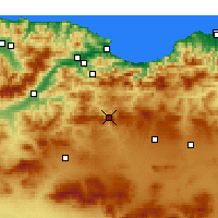 Nearby Forecast Locations - Bougaa - Map
