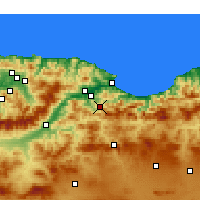 Nearby Forecast Locations - Barbacha - Map