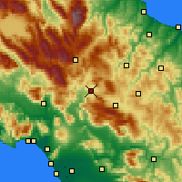 Nearby Forecast Locations - Isernia - Map