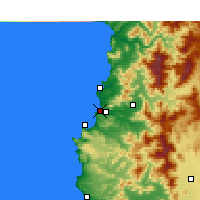 Nearby Forecast Locations - Concón - Map