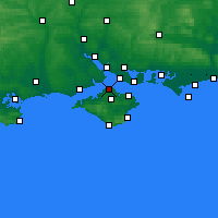 Nearby Forecast Locations - Cowes - Map