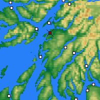 Nearby Forecast Locations - Oban - Map