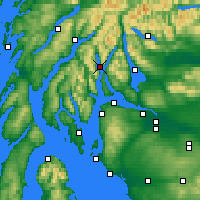 Nearby Forecast Locations - Loch Goil - Map