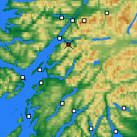 Nearby Forecast Locations - Ballachulish - Map