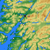 Nearby Forecast Locations - Fort William - Map