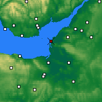 Nearby Forecast Locations - Weston-super-Mare - Map