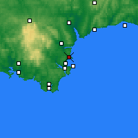 Nearby Forecast Locations - Torquay - Map