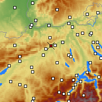 Nearby Forecast Locations - Olten - Map