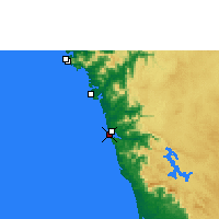 Nearby Forecast Locations - Honnavar - Map