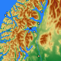 Nearby Forecast Locations - Lake Manapouri - Map